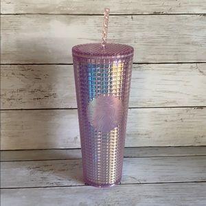 Starbucks 2020 pink grid tumbler
